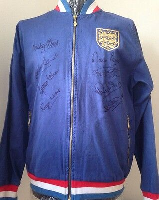 1966 England World Cup Jacket Signed By 8 Players With Guarantee