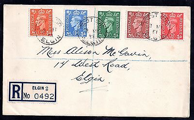GB KGVI 1951 Colour Change Definitives on registered FDC WS1572