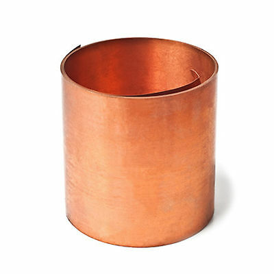 Copper flexible Sheet 0.3mm Coiled Copper 500mm Wide Choose a Length