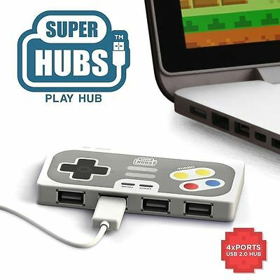 Retro Gaming Controller Style Super Hub Playhub 4 Port USB 2.0 Hub by Mustard