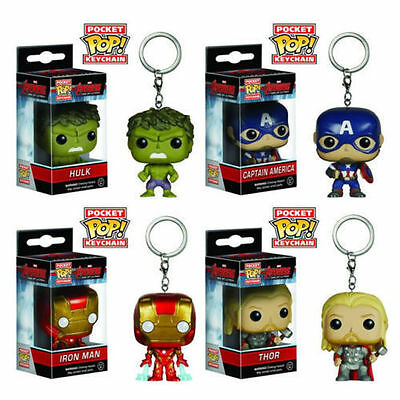 Marvel and DC Pocket Pop! Keychain - The Flash ArrowThor Iron Man Hulk Captain