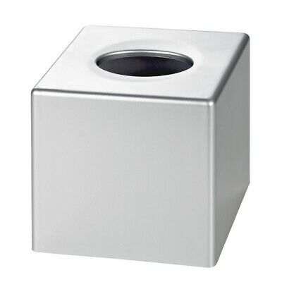Satin Chrome Cube Tissue Box Cover (Case Qty 6) by Corby
