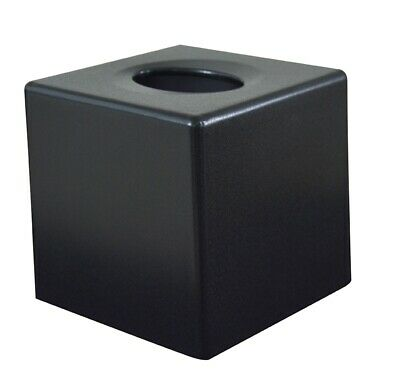 Black Cube Tissue Box Cover (Case Qty 6) by Corby