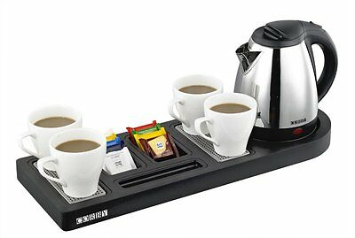 Buckingham Grand Welcome Tray - Black (With 1L Kettle) by Corby