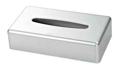 Satin Chrome Rectangle Tissue Box Cover (Case Qty 6) by Corby