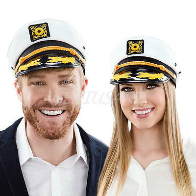 ADULT YACHT BOAT SHIP SAILOR CAPTAIN COSTUME HAT Cap Navy Marine Admiral Ships