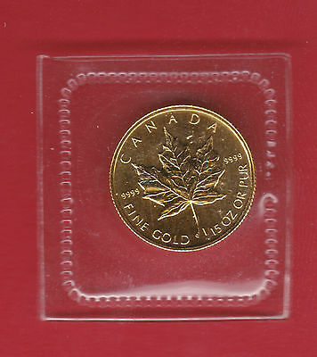 1994 1/15 th oz Gold Maple .9999 Fine Coin - One Year Type Mintage 3,450 - RARE