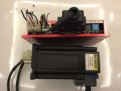 1  pcs EZI-SERVO Closed-loop drive EZS-NDR-60L-A-D + Motor EZM-60L-A-D  tested