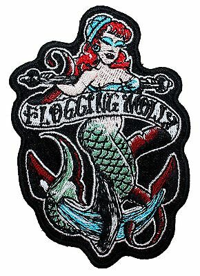 """""""Flogging Molly"""" Sailor Mermaid Band Logo Punk Rock Music Iron On Applique Patch"""