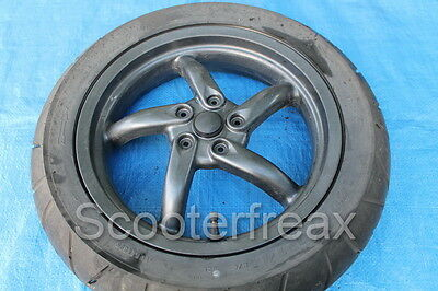Gilera DNA 50 C27 original Hinterrad Anthrazit Rear Wheel Reifen Felge Rad