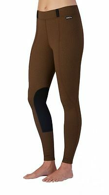 Kerrits Fleece Flow Rise Performance Tight (Dune Herringbone, Medium)