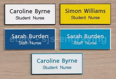 Quality Engraved STUDENT NURSE / STAFF NURSE name badge - 75mm x 30mm