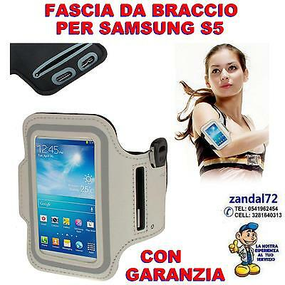 Band For Arm White For Samsung Galaxy S5 Mobile Phone Holder Run Fitness
