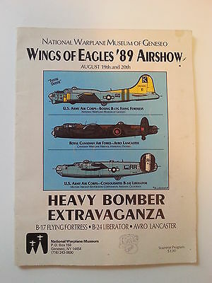 Wings of Eagles 1989 National Warplane Museum of Geneseo NY FREE Shipping!!