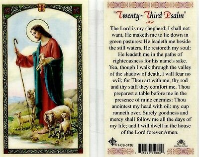 Twenty Third Psalm Prayer Card The Lord is My Shepherd Laminated in JimsStoreUSA