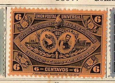 Guatemala 1897 Early Issue Fine Mint Hinged 6c. 094899