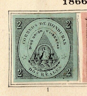 Guatemala 1866 Early Issue Fine Mint Hinged 2c. Imperf 094908