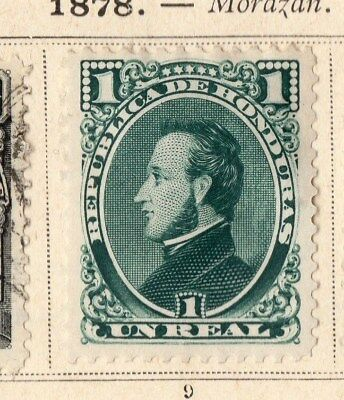Guatemala 1878 Early Issue Fine Mint Hinged 1r. 094913