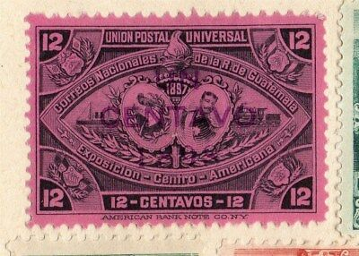 Guatemala 1898 Early Issue Fine Mint Hinged 12c. Optd 094925