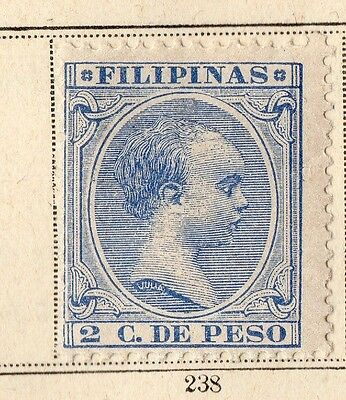 Philippines 1896 Early Issue Fine Mint Hinged 2c. 094951