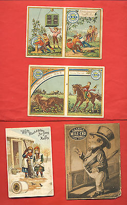 Oddball Lot Of Clarks & J P Coats Thread/spool Cotton Advertising Trade Cards