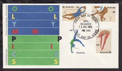 Australia 1976 Olympics Illustrated First Day Cover