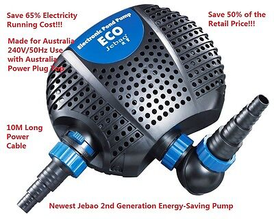 New Jebao OEM 6500L/H 50w Only Energy-Saving Turtle Pond Pump 10M + 1 Year Wty