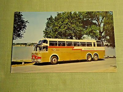 Continental Trailways Golden Eagle Bus Postcard 1964 Unused