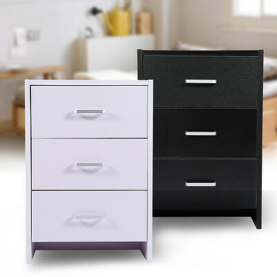 2 Colors Bedroom Cabinet Small Nightstand Drawers Bedside Table Cupboard Storage