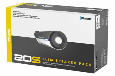 Sena 20S-02 Motorcycle Bluetooth Communication System with Slim Speakers