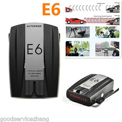 E6 360° 16 Band Car Motorbike Wireless Laser Radar Gun Speed Detector GPS Voice