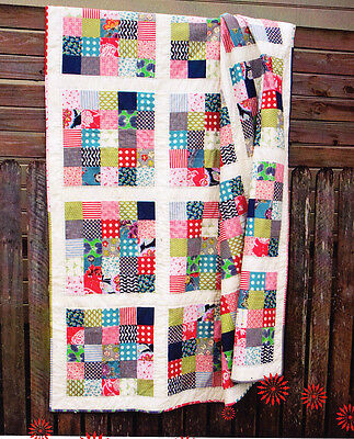 City Blocks - quick and easy pieced quilt mini pattern - Lynne Wilson