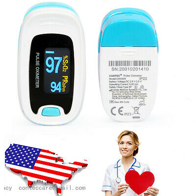 USA Probe Heart Pulse Rate Blood Oxygen Sensor Paitent Monitor SPO2 Finger Meter