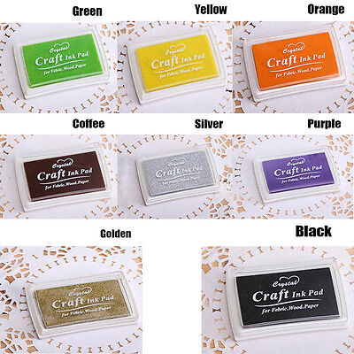 Cute Oil Based DIY Craft Ink Pad Rubber Stamps for Fabric Wood Paper Wedding CN