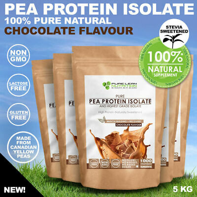 5Kg Chocolate Pea Protein Isolate Vegan Natural Lactose Free Canadian Peas