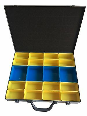 X-Large Metal Parts Storage Cabinet Box Container Organizer, 20 Removable Bins