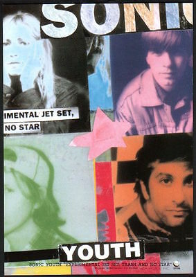 1994 Sonic Youth Experimental Jet Set No Star JAPAN album promo mini poster ad
