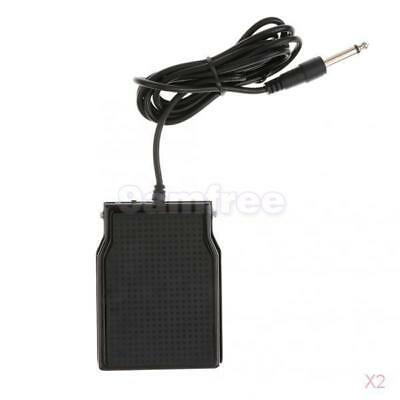 2x Universal Electronic Piano Keyboard Sustain Pedal Damper Foot Switch Black