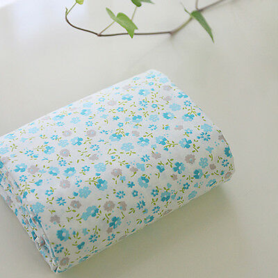 Cotton Fabric Flower Fabric sewing by the Yard Cozy pastel Skyblue little flower