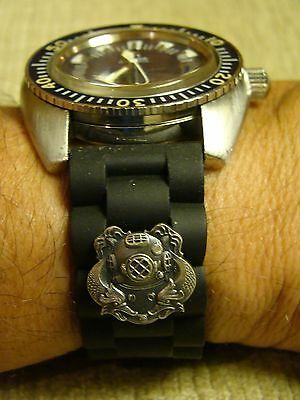 20Mm Deep Sea Diver 1St Cl. Hard Hat Diver's Watchband Watch Band Fits All Sizes