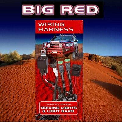 Big Red Wiring Harness Suits all BIG RED Driving & Bar Lights  BR9085