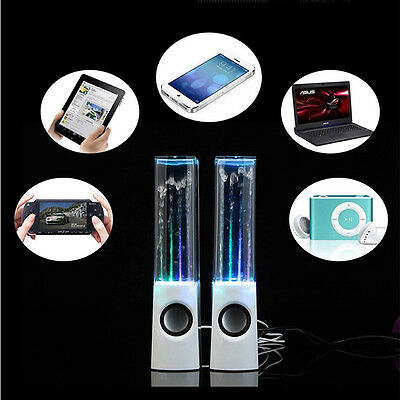 2X Speakers Music LED Water Dancing Water Fountain for IPHONE IPOD IPAD PC