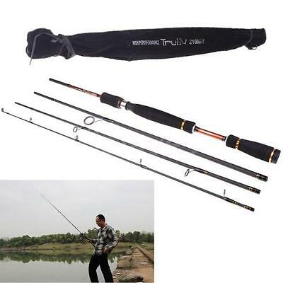 Fishing Spinning Rod 2.1M 4Pieces Travel Carbon Fiber Fishing Rod 6.89FT F0B2