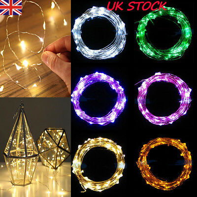 40 Led Battery Operated Micro Silver Wire String Fairy Party Xmas Wedding Light