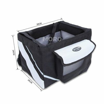Pet Dog Puppy Cat Bike Front Basket Travle Bicycle Carrier Crate Bag+Leash