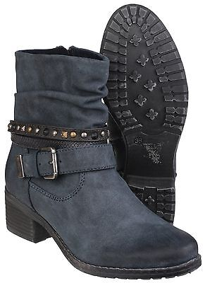 Divaz ARIANNA Ladies Womens Genuine Suede Buckle Strap Zip Up Ankle Boots