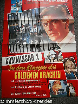059 or. Filmplakat Movie Poster A1  Kommissar X in den Klauen des golden Drachen