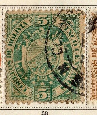 Bolivia 1894 Early Issue Fine Used 5c. 095249