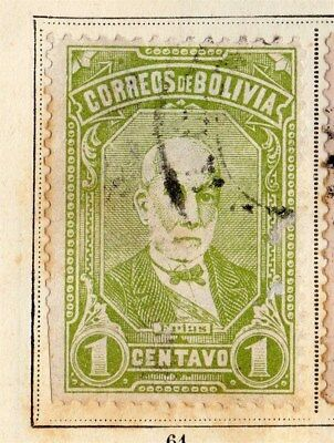 Bolivia 1897 Early Issue Fine Used 1c. 095254