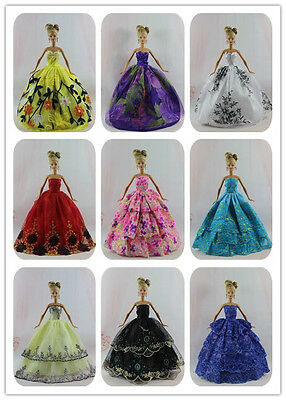 15 Items=5Pcs Princess Party Dresses&Clothe +10Shoes For Barbie doll Girl gift